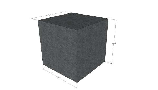 Schaumstoffwürfel 50x50x50cm