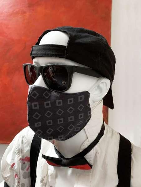 Nase-Mund-Abdeckung M003 anthrazit-grau #Gesichtsmaske #Nasenmaske #Mundschutz #Mund-Nase-Abdeckung