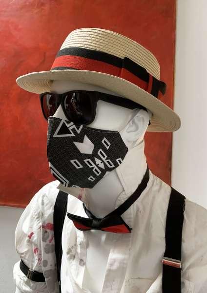 Nase-Mund-Abdeckung M002 schwarz-weiß #Gesichtsmaske #Nasenmaske #Mundschutz #Mund-Nase-Abdeckung