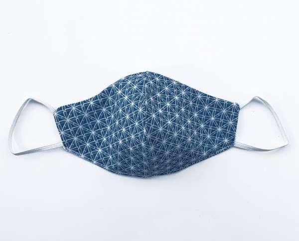 Nase-Mund-Abdeckung M014 türkis-blau-weiß  #Gesichtsmaske #Nasenmaske #Mundschutz #Mund-Nase-Abdeckung