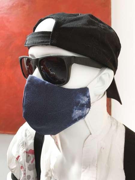 Nase-Mund-Abdeckung M004 blau-batik  #Gesichtsmaske #Nasenmaske #Mundschutz #Mund-Nase-Abdeckung