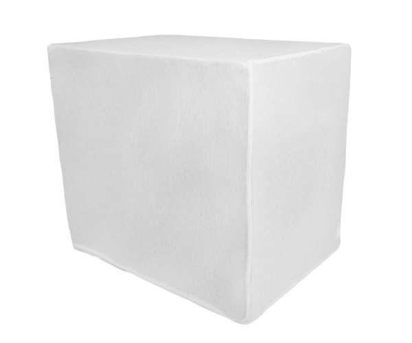 Bezug für Bandscheibenwürfel, weißer Baumwoll Strech, 50x45x35cm mit Reißverschluß