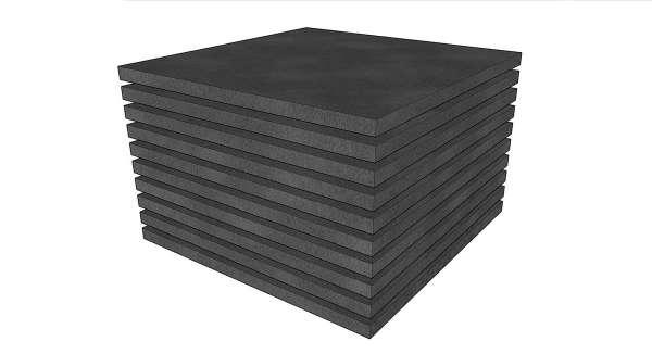 Schaumstoff Polster Set 10 stk 50x50x2cm mittelfeste Qualität